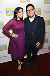 Kristen Anderson-Lopez and Robert Lopez attends the Broadway Opening Night Performance Press Reception for  'In Transit' at Circle in the Square Theatre on December 11, 2016 in New York City.