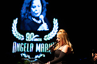 SAO PAULO, SP, 15.07.2019 - SHOW SP - <br /> Lilian Gonçalves durante show em homenagem a cantora Ângela Maria, que faria 90 anos em 2019, no teatro Procópio Ferreira, região central de São Paulo na noite desta segunda-feira, 15.(Foto: Ciça Neder/Brazil Photo Press)