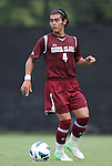 02 September 2012: Santa Clara's Danny Maeda. The North Carolina State University Wolfpack defeated the Santa Clara University Broncos 2-1 at Koskinen Stadium in Durham, North Carolina in a 2012 NCAA Division I Men's Soccer game.
