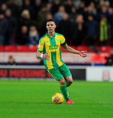 9th February 2019, bet365 Stadium, Stoke-on-Trent, England; EFL Championship football, Stoke City versus West Bromwich Albion; Kieran Gibbs of West Bromwich Albion looks for a pass