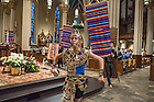 Dec. 11, 2015; Our Lady of Guadalupe Celebration mass presided by University President, Rev. John Jenkins, C.S.C. The Mass featured liturgical dance by the Notre Dame Ballet Folklorico and music by Mariachi ND, the Notre Dame Folk Choir and Coro Primavera de Nuestra Senora. (Photo by Barbara Johnston/University of Notre Dame)