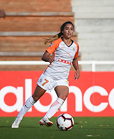 20181027 - CAMPHIN-EN-PEVELE , FRANCE : Montpellier's Sakina Karchaoui pictured during the 8 th competition game between the women teams of Lille OSC and Montpellier Herault Sporting Club in the 2018-2019 season of the first Division - Ligue 1 at Domaine de Luchin , Saturday 27th Octobre 2018 ,  PHOTO Dirk Vuylsteke | Sportpix.Be