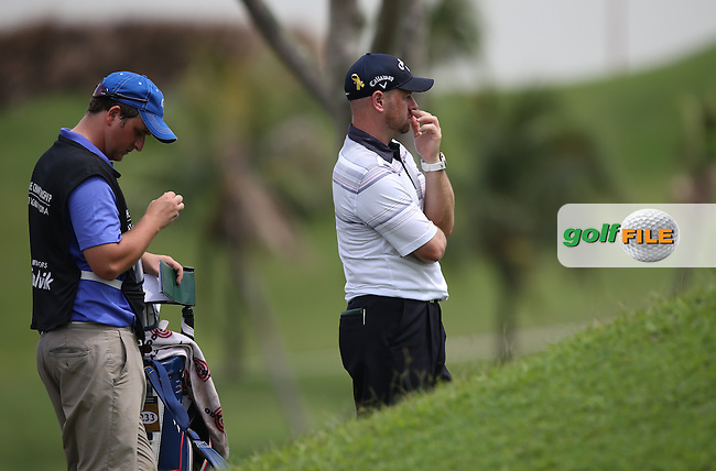 Craig Lee (SCO) progressed to -2 but for three putting on the 16th during Round One of the The Championship 2014 from the Laguna National Golf & Country Club, Tampines, Singapore. Picture:  David Lloyd / www.golffile.ie