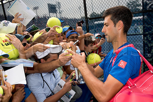31.08.2015. New York, NY, USA.  Novak Djokovic (SRB) during practice at the 2015 U.S. Open Tennis Championships at the USTA Billie Jean King National Tennis Center in Flushing, Queens, New York, USA.