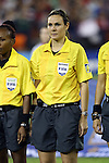 20 October 2014: Fourth Official Maurees Skeete (GUY). The United States Women's National Team played the Haiti Women's National Team at RFK Memorial Stadium in Washington, DC in a 2014 CONCACAF Women's Championship Group A game, which serves as a qualifying tournament for the 2015 FIFA Women's World Cup in Canada. The U.S. won the game 6-0.
