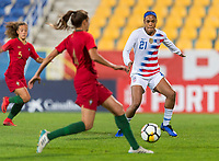 Estoril, Portugal - November 8, 2018:  The USWNT defeated Portugal 1-0 during an international friendly at Estadio Antonio Coimbra da Mota.