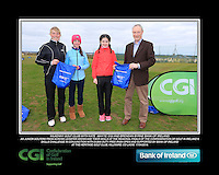 Kilkenny Golf Club Girls With Kate Wright CGI and Brendan Byrne Bank of Ireland.<br /> Junior golfers from across Leinster practicing their skills at the regional finals of the Dubai Duty Free Irish Open Skills Challenge supported by Bank of Ireland at the Heritage Golf Club, Killinard, Co Laois. 2/04/2016.<br /> Picture: Golffile | Fran Caffrey<br /> <br /> <br /> All photo usage must carry mandatory copyright credit (© Golffile | Fran Caffrey)