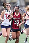 Santa Barbara, CA 02/18/12 - Monica Wells (Santa Clara #18) in action during the Santa Clara-Arizona game at the 2012 Santa Barbara Shootout.  Santa Clara defeated Arizona 18-9.