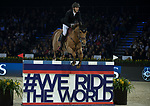Kevin Staut of France riding Ayade de Septon et HDC the Longines Speed Challenge during the Longines Masters of Hong Kong at AsiaWorld-Expo on 10 February 2018, in Hong Kong, Hong Kong. Photo by Ian Walton / Power Sport Images