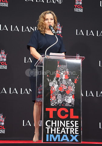 Hollywood, CA - DECEMBER 07: Krista Smith, At Ryan Gosling And Emma Stone Hand And Footprint Ceremony At TCL Chinese Theatre IMAX, California on December 07, 2016. Credit: Faye Sadou/MediaPunch