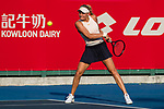 Dayana Yastremska of Ukraine competes against Fanny Stollar of Hungary during the singles first round match at the WTA Prudential Hong Kong Tennis Open 2018 at the Victoria Park Tennis Stadium on 08 October 2018 in Hong Kong, Hong Kong. Photo by Yu Chun Christopher Wong / Power Sport Images