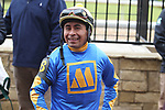 January 24, 2020: Jockey Martin Garcia all smiles after winning the Smarty Jones Stakes at Oaklawn Racing Casino Resort in Hot Springs, Arkansas on January 24, 2020. Justin Manning/Eclipse Sportswire/CSM