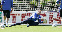 USA goalkeeper Kasey Keller during training in Hamburg, Germany, for the 2006 World Cup, June, 6, 2006.