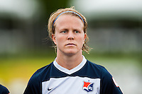 Sky Blue FC defender CoCo Goodson (2). Sky Blue FC defeated the Seattle Reign FC 2-0 during a National Women's Soccer League (NWSL) match at Yurcak Field in Piscataway, NJ, on May 11, 2013.