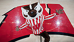 Wisconsin Badgers mascot Bucky Badger poses for the camera during an NCAA college women's basketball game against the Duke Blue Devils during the ACC/Big Ten Challenge at the Kohl Center in Madison, Wisconsin on December 2, 2010. Duke won 59-51. (Photo by David Stluka)