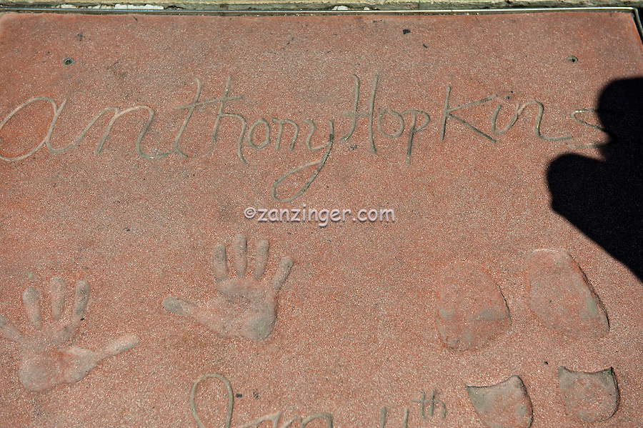 Anthony Hopkins, Hand - Footprint Impressions, Grauman's Chinese Theater, Hollywood, CA