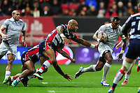 Semesa Rokoduguni of Bath Rugby goes on the attack. European Rugby Challenge Cup match, between Bristol Rugby and Bath Rugby on January 13, 2017 at Ashton Gate Stadium in Bristol, England. Photo by: Patrick Khachfe / Onside Images