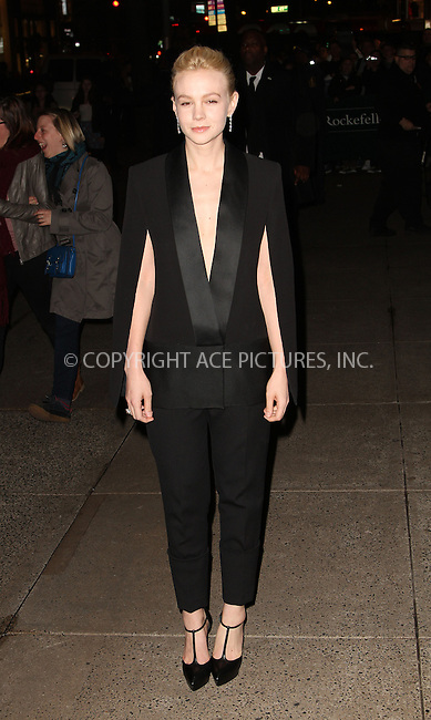 WWW.ACEPIXS.COM....April 18 2013, New York City....Carey Mulligan arriving at the Tiffany & Co. Blue Book Ball at Rockefeller Center on April 18, 2013 in New York City. ....By Line: Zelig Shaul/ACE Pictures......ACE Pictures, Inc...tel: 646 769 0430..Email: info@acepixs.com..www.acepixs.com