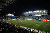 An overall of PPL Park. The Philadelphia Union defeated Everton FC 1-0 during an international friendly at PPL Park in Chester, PA, on July 20, 2011.