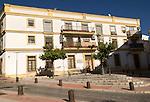 Large historic building in Barrio de Santiago, Jerez de la Frontera, Spain