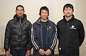 (L to R)  Ian Hall, Shinnosuke Yasuda, Hisaki Nagai, FEBURARY 12, 2012 - Sailing : 2012 Int Laser Radial Class Japan National team and the World Championship team selection race, at Hayama, Kanagawa, Japan. ..(Photo by Atsushi Tomura/AFLO SPORT) [1035]