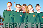 AWARDS: Some of the Causeway Comprehensive School students who gathered at the School for their awards night on Thursday l-r: Luke Griffin, Padraig O'Connor Sahara-Jane Perice, Ema Kearney and Patrick Dineen..   Copyright Kerry's Eye 2008