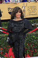 Joan Collins at the 2015 Screen Actor Guild Awards at the Shrine Auditorium on January 25, 2015 in Los Angeles, CA David Edwards/DailyCeleb.com 818-249-4998