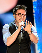 """Danny Gokey sings """"My Best Days are Ahead of Me"""" at the 2012 Republican National Convention in Tampa Bay, Florida on Wednesday, August 29, 2012.  .Credit: Ron Sachs / CNP.(RESTRICTION: NO New York or New Jersey Newspapers or newspapers within a 75 mile radius of New York City)"""