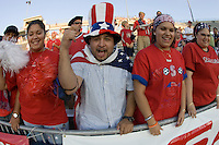 USA Fans before the match against Trinidad at  Rentschler Field in E. Hartford, CT, Wednesday, August 17, 2005. The USA won 1-0. (Photo by Brooks Parkenridge/ISI)