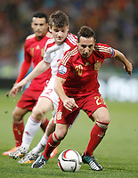 Spain's Santi Cazorla (f) and Belarus' Stanislav Dragun during 15th UEFA European Championship Qualifying Round match. November 15,2014.(ALTERPHOTOS/Acero) /NortePhoto nortephoto@gmail.com