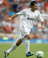 03.06.2012 SPAIN -  Corazon Classic Match 3rd Match played between Real Madrid CF vs Manchester United (3-2) at Santiago Bernabeu stadium. The picture show Luis Figo