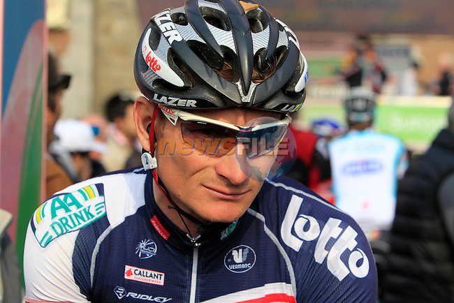Lotto Belisol Team rider Andre Greipel (GER) at the sign on before the start of the Milan-San Remo cycle race, 17th March 2012 (Photo by Eoin Clarke/NEWSFILE)