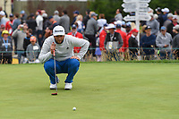 Jon Rahm (ESP) looks over his putt on 3 during round 4 of the 2019 US Open, Pebble Beach Golf Links, Monterrey, California, USA. 6/16/2019.<br /> Picture: Golffile | Ken Murray<br /> <br /> All photo usage must carry mandatory copyright credit (© Golffile | Ken Murray)