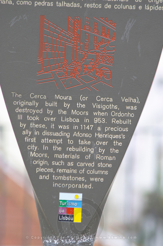 Tourism information. Lisbon, Portugal