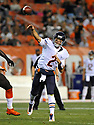 CLEVELAND, OH - SEPTEMBER 1, 2016: Quarterback Brian Hoyer #2 of the Chicago Bears throws a pass in the second quarter of a game on September 1, 2016 against the Cleveland Browns at FirstEnergy Stadium in Cleveland, Ohio. Chicago won 21-7. (Photo by: 2016 Nick Cammett/Diamond Images)  *** Local Caption *** Brian Hoyer