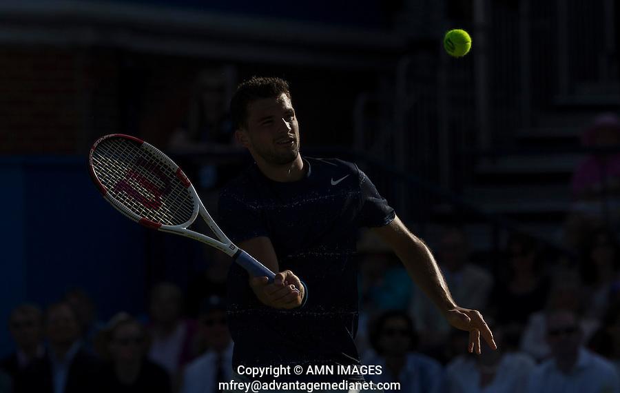 GRIGOR DIMITROV (BUL)<br /> <br /> Aegon Championships 2014 - Queens Club -  London - UK -  ATP - ITF - 2014  - Great Britain -  10th June 2014. <br /> <br /> &copy; AMN IMAGES