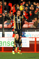 Alex Gilbey of MK DOns during Crawley Town vs MK Dons, Sky Bet EFL League 2 Football at Broadfield Stadium on 3rd November 2018