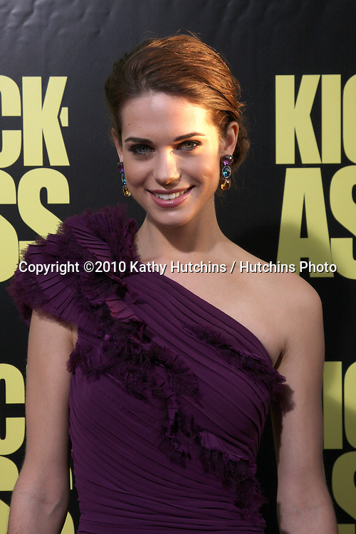 """Lyndsy Fonseca.arrives at  the """"Kick-Ass"""" Premiere.ArcLight Dome Theater.Los Angeles, CA.April 13, 2010.©2010 Kathy Hutchins / Hutchins Photo..."""