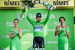 Peter Sagan (SVK) Bora-Hansgrohe retains the points Green Jersey at the end of Stage 16 of the 2019 Tour de France running 177km from Nimes to Nimes, France. 23rd July 2019.<br /> Picture: ASO/Pauline Ballet | Cyclefile<br /> All photos usage must carry mandatory copyright credit (© Cyclefile | ASO/Pauline Ballet)