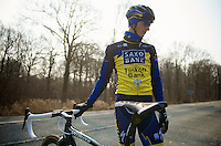 Paris-Roubaix 2013 RECON at Bois de Wallers-Arenberg..Marko Kump (SVN)
