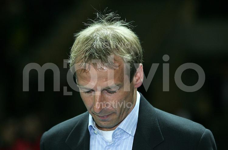 Fussball International Testspiel Deutschland 1-1 Brasilien GER Teamchef Joergen Klinsmann ;