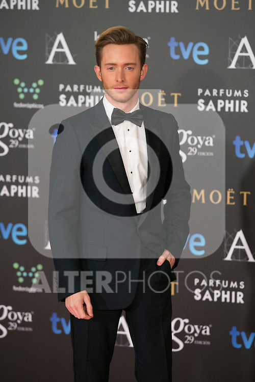 Pablo Rivero attend the 2015 Goya Awards at Auditorium Hotel, Madrid,  Spain. February 07, 2015.(ALTERPHOTOS/)Carlos Dafonte)