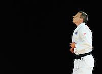 Scotland's Euan Burton celebrates his victory in the men's -100kg preliminary round of 16 contest against Seychelles' Evans Ouko Kengara<br /> <br /> Photographer Chris Vaughan/CameraSport<br /> <br /> 20th Commonwealth Games - Day 3 - Saturday 26th July 2014 - Judo - SECC - Glasgow - UK<br /> <br /> © CameraSport - 43 Linden Ave. Countesthorpe. Leicester. England. LE8 5PG - Tel: +44 (0) 116 277 4147 - admin@camerasport.com - www.camerasport.com
