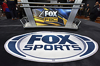 BROOKLYN, NY - DECEMBER 21: Fox Sports Logo seen at the Fox Sports and Premier Boxing Champions official weigh-in for the December 22 Fox PBC Fight Night at the Barclay Center on December 21, 2018 in Brooklyn, New York. (Photo by Anthony Behar/Fox Sports/PictureGroup)