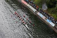 Eight Woman Crew Races, Team Rowing, Windermere Cup 2017, Mountlake Cut, Lake Washington, Seattle, WA, USA.