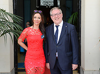 20170604 – OOSTENDE , BELGIUM :  Tina Titeca pictured with Francois De Keersmaecker during the 3nd edition of the Sparkle award ceremony , Sunday 4 June 2017 , in Oostende . The Sparkle  is an award for the best female soccer player in the Belgian Superleague and 1st division during the season 2016-2017 comparable to the Golden Shoe or Boot / Gouden Schoen / Soulier D'or for Men in Belgium . PHOTO SPORTPIX.BE | DAVID CATRY