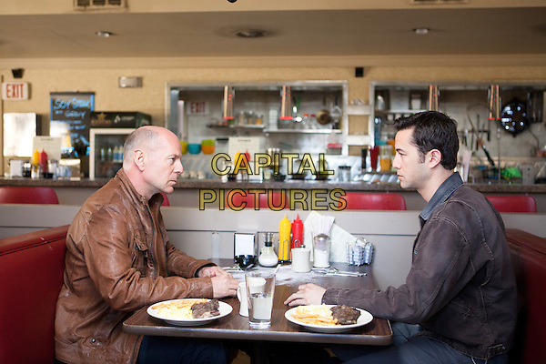 Bruce Willis, Joseph Gordon-Levitt <br /> in Looper (2012) <br /> *Filmstill - Editorial Use Only*<br /> CAP/NFS<br /> Image supplied by Capital Pictures