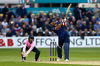 Ravi Bopara in batting action for Essex as John Simpson looks on from behind the stumps during Essex Eagles vs Middlesex, NatWest T20 Blast Cricket at The Cloudfm County Ground on 11th August 2017