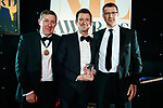 © Joel Goodman - 07973 332324 . 01/03/2018 . Manchester , UK . Team of the Year – Litigation winner is DWF LLP . The Manchester Evening News Legal Awards at the Midland Hotel in Manchester City Centre . Photo credit : Joel Goodman
