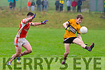 in Action Emmets Niall Collins and Brosna's Mike Finnegan and Don McMcAuliffe In the North Kerry Senior Football Championship Final  Brosna v Listowel Emmets at Moyvane on Sunday